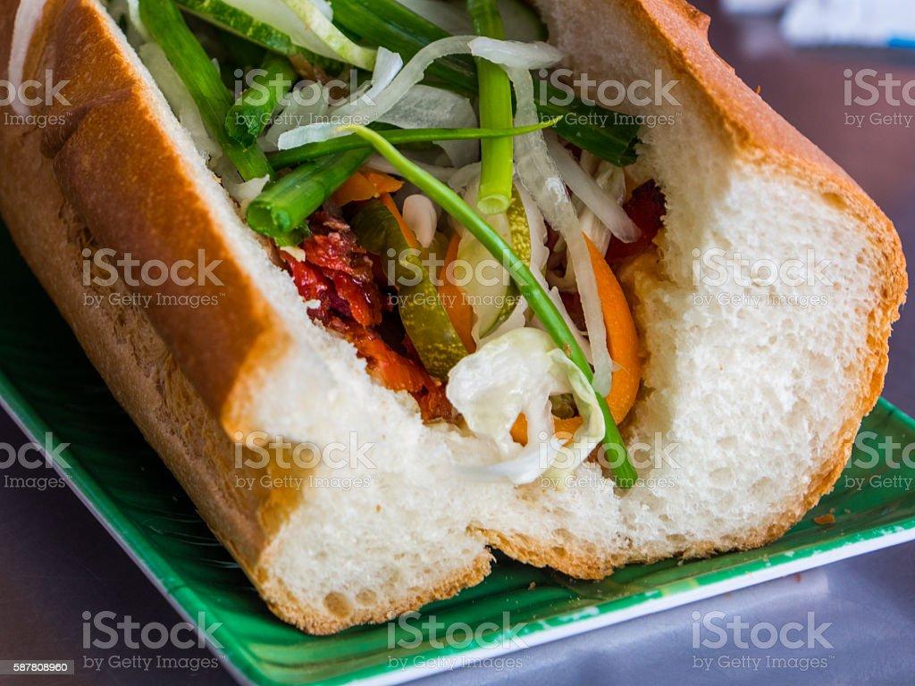 Banh Mi Vietnamese sandwich in daytime stock photo