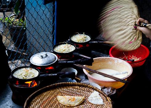 Banh Xeo Vietnamese Crepe Stock Photo - Download Image Now