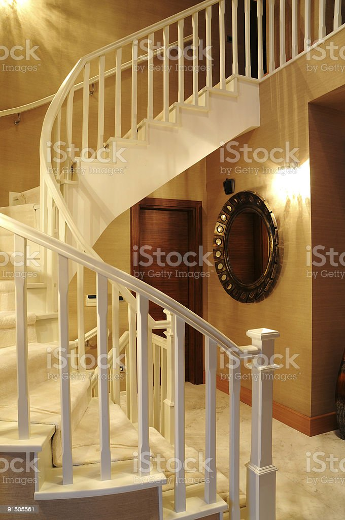 banister in home royalty-free stock photo