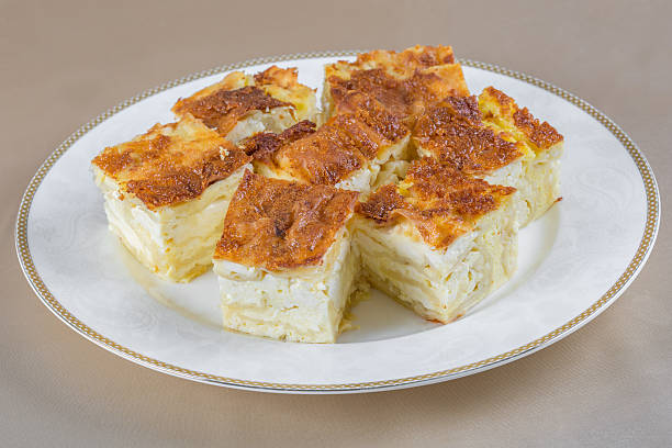 Banitsa. Bulgarian pie. stock photo