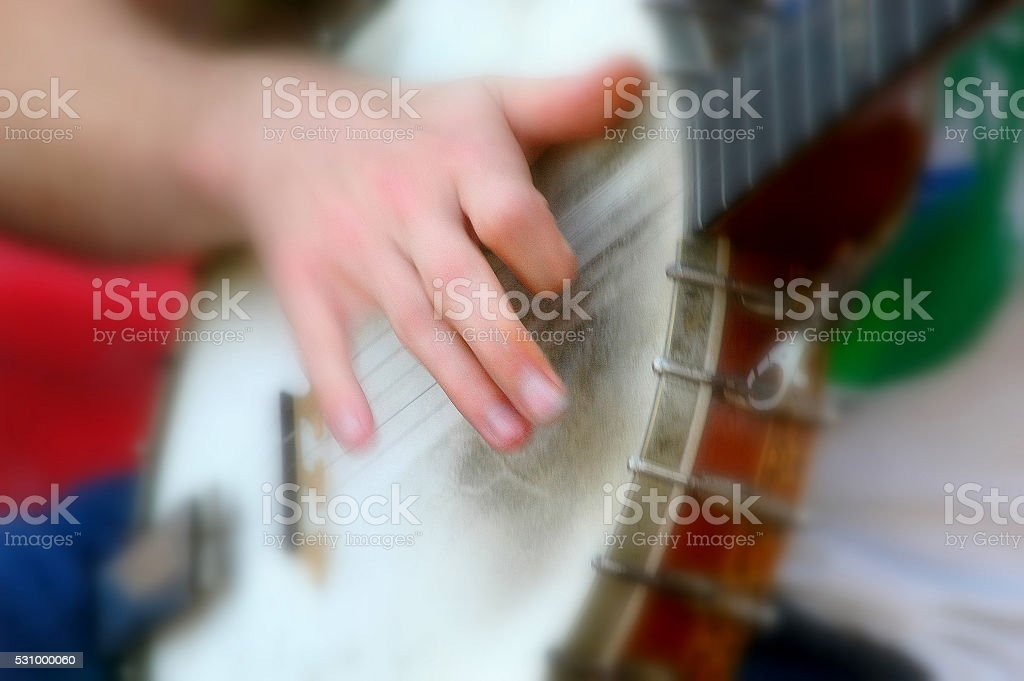 Banjo abstract. stock photo