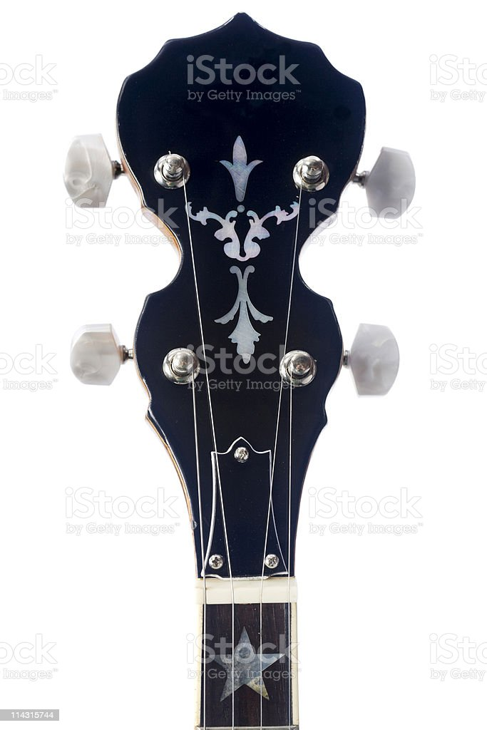 Banjo headstock royalty-free stock photo