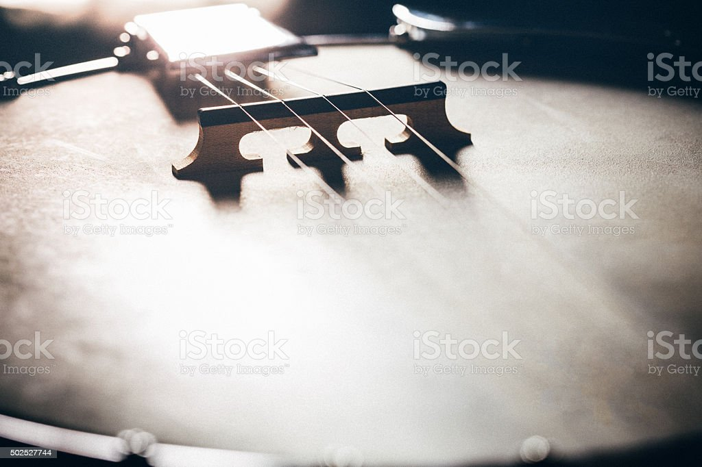 Banjo Instrument Detail stock photo