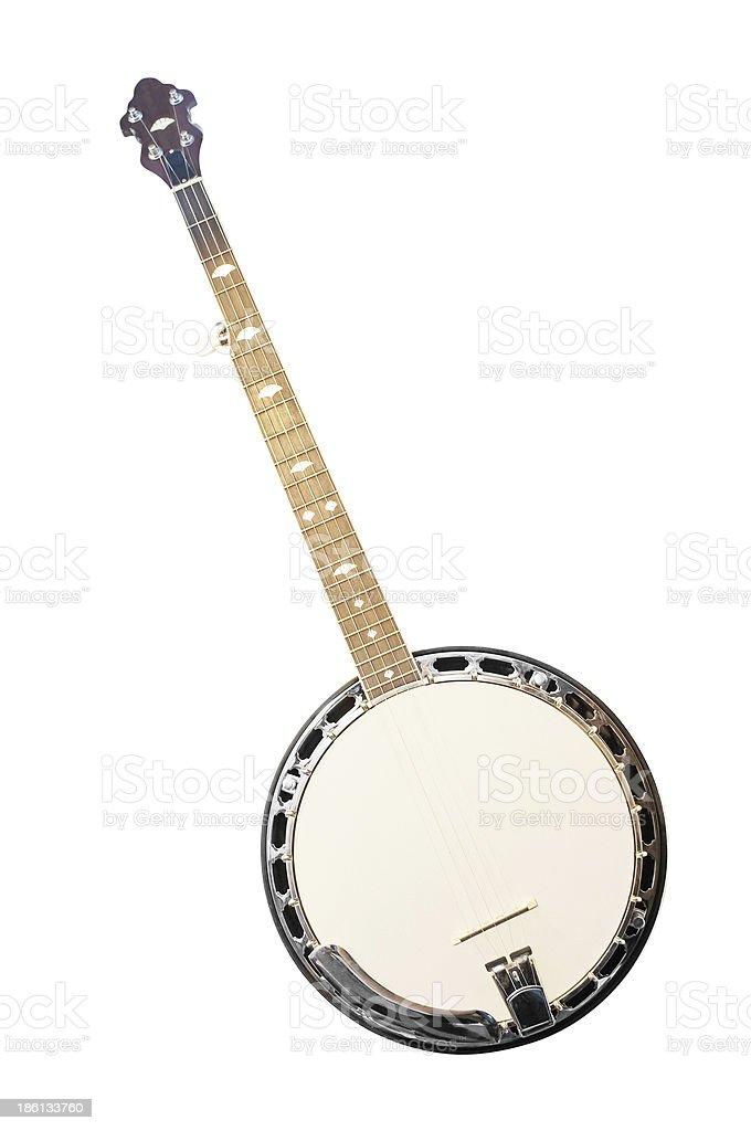 banjo isolated stock photo