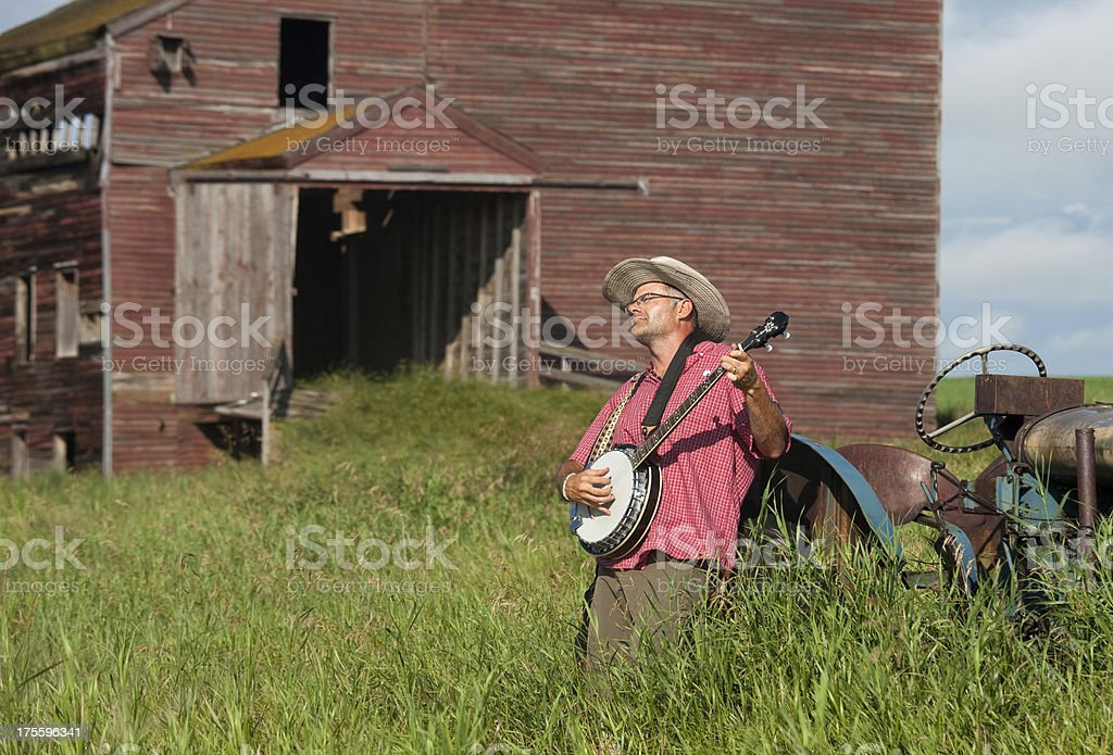 Banjo Player stock photo