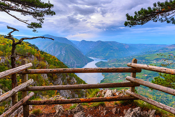 banjska stena viewpoint at tara national park, serbia - serbia stock photos and pictures