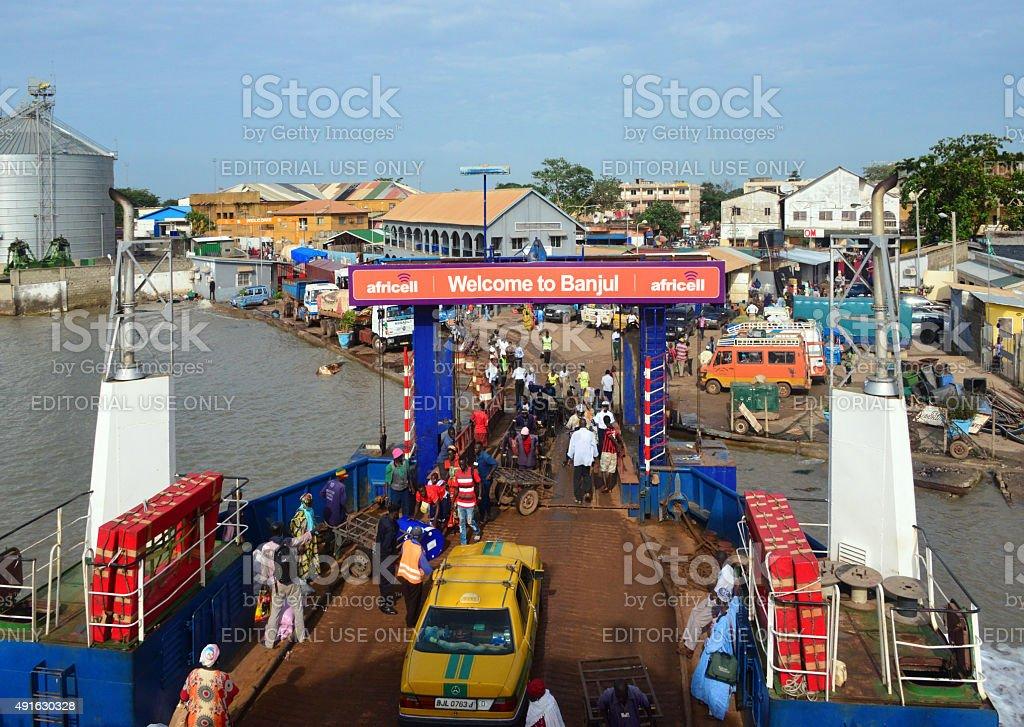Banjul Ferry Terminal, Gambia stock photo