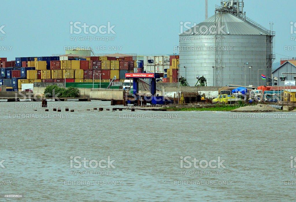 Banjul port stock photo