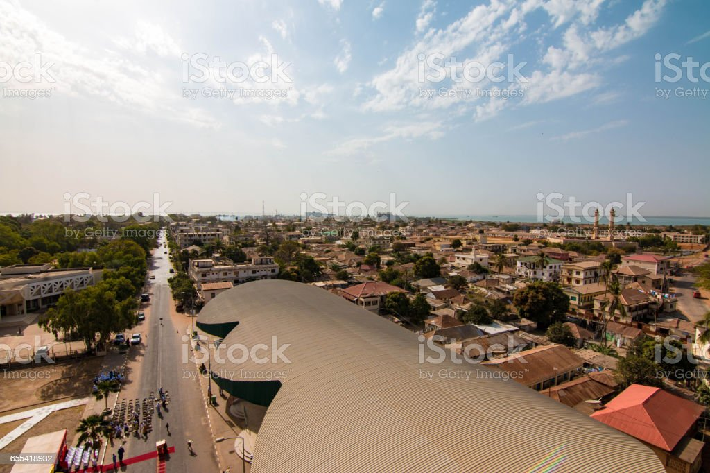 Banjul skyline, the Gambia stock photo