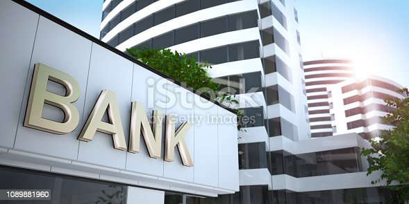 bank - gold text