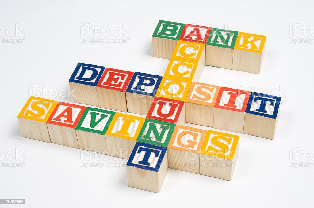 Bank Account Blocks royalty-free stock photo