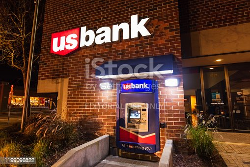 Dec 21, 2019 San Jose / CA / USA - US Bank branch located South San Francisco Bay Area; U.S. Bank is a subsidiary of U.S. Bancorp