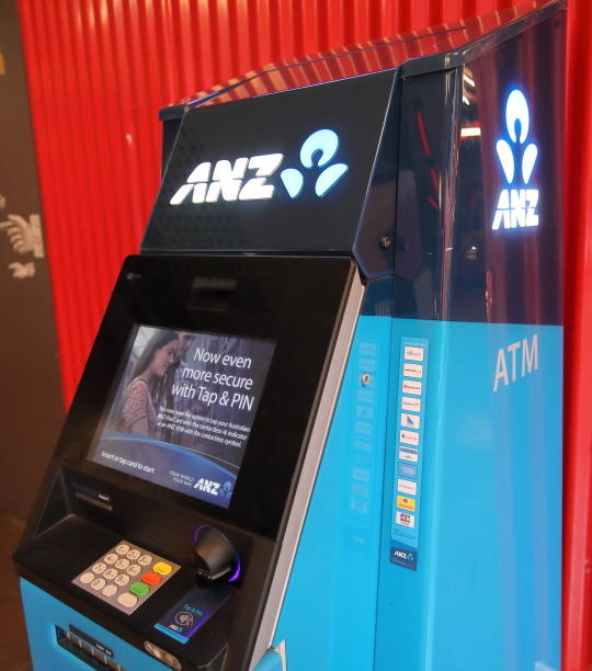 ANZ bank ATM Australia stock photo