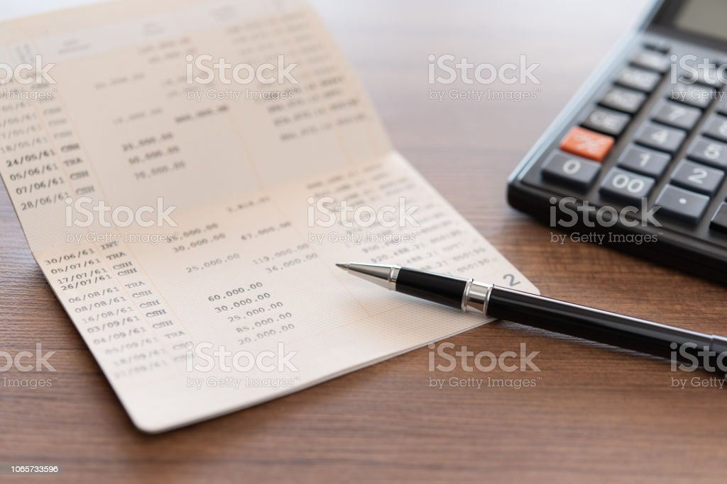 bank book account stock photo