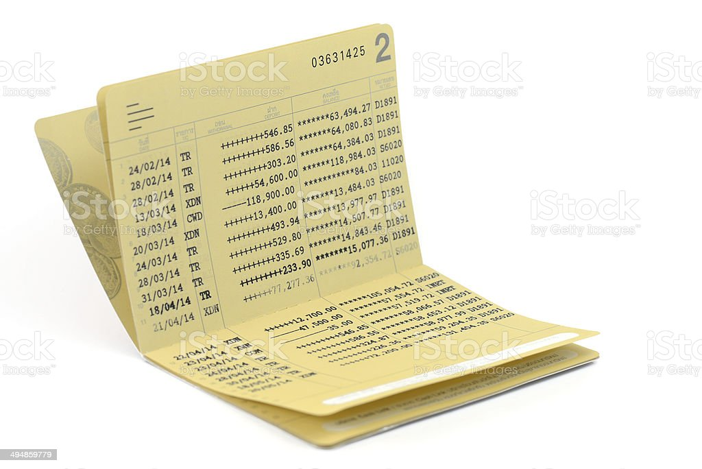 Bank Book stock photo