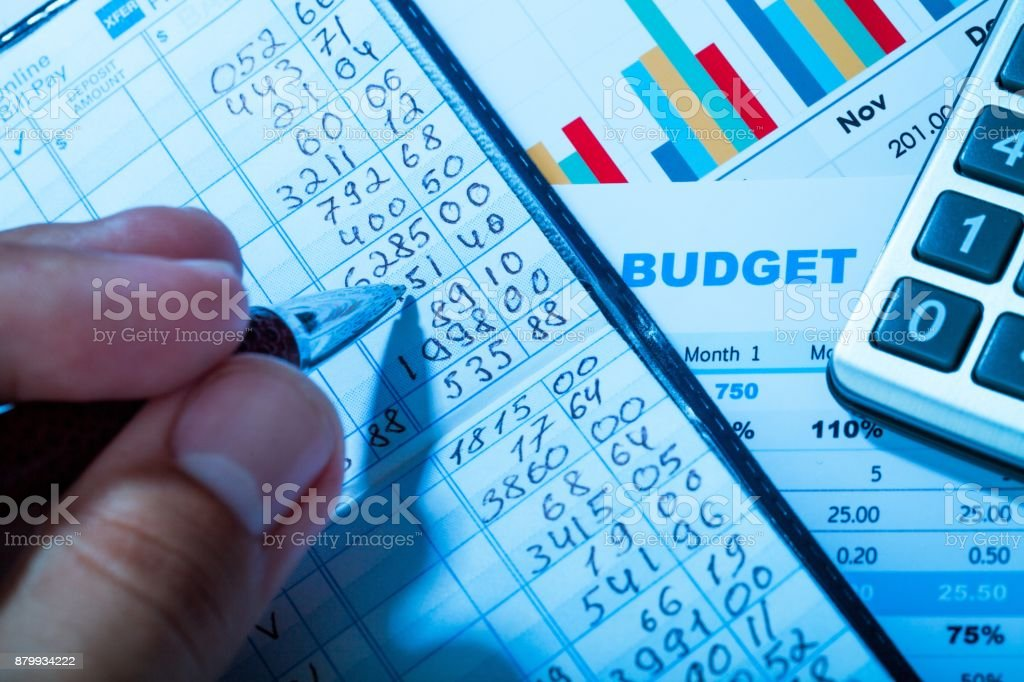 Bank book. stock photo