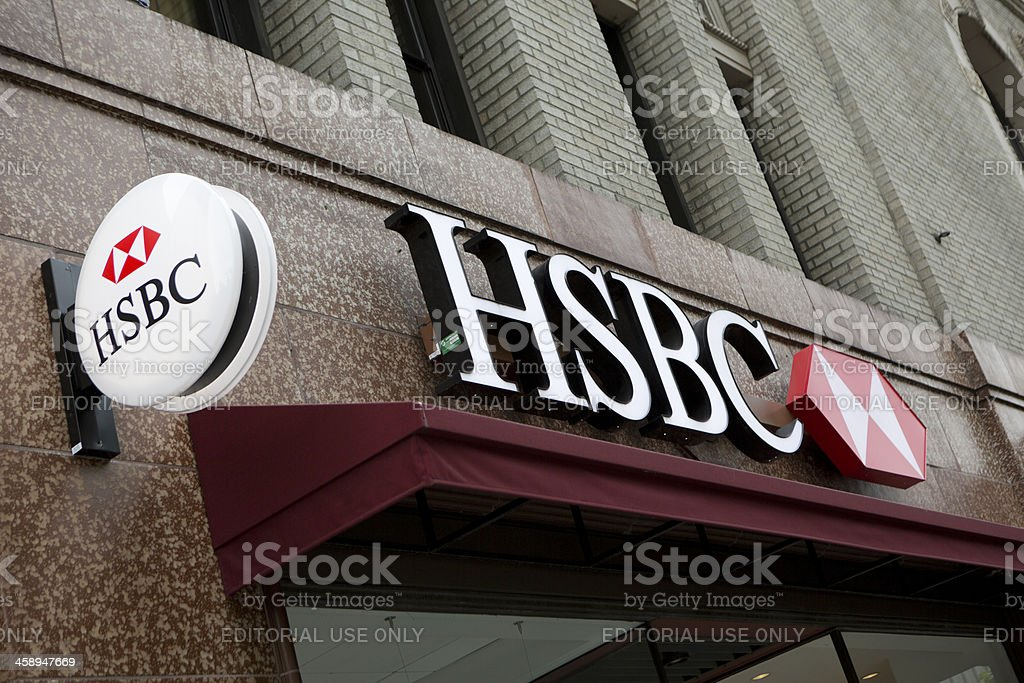 HSBC Bank Branch in downtown Seattle stock photo