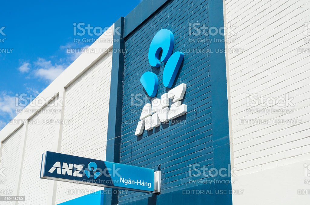 ANZ bank branch in Springvale stock photo
