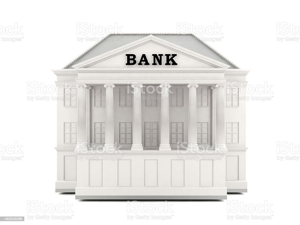 Bank Building 3d Model Stock Photo Download Image Now Istock