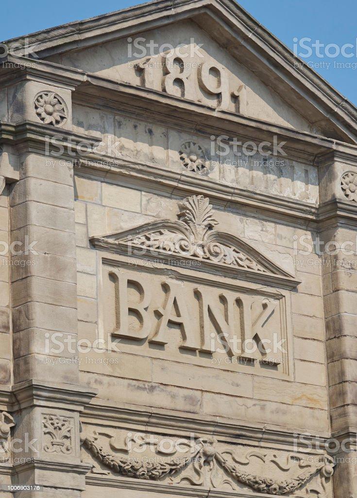 Bank building facade стоковое фото