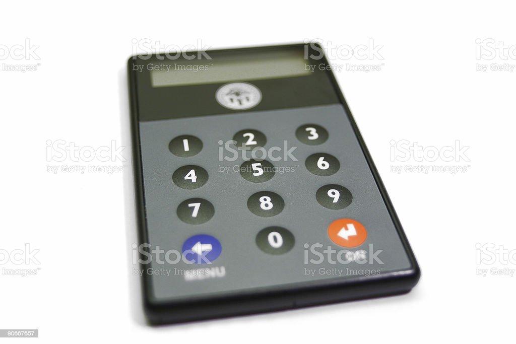 Bank calculator royalty-free stock photo