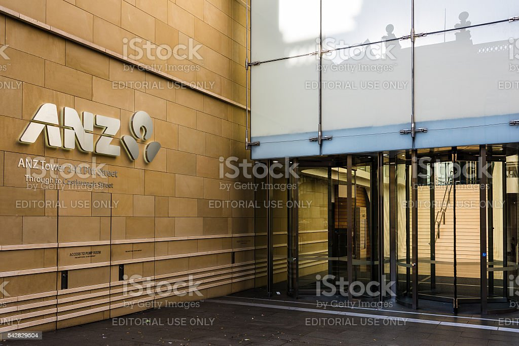 ANZ Bank Cantre building on Pitt street stock photo