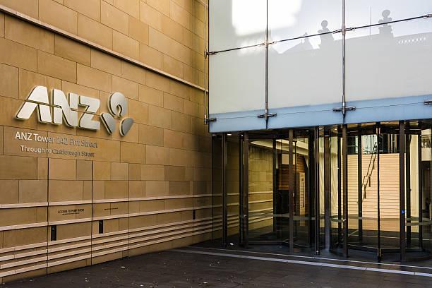 ANZ Bank Cantre building on Pitt street stock photo