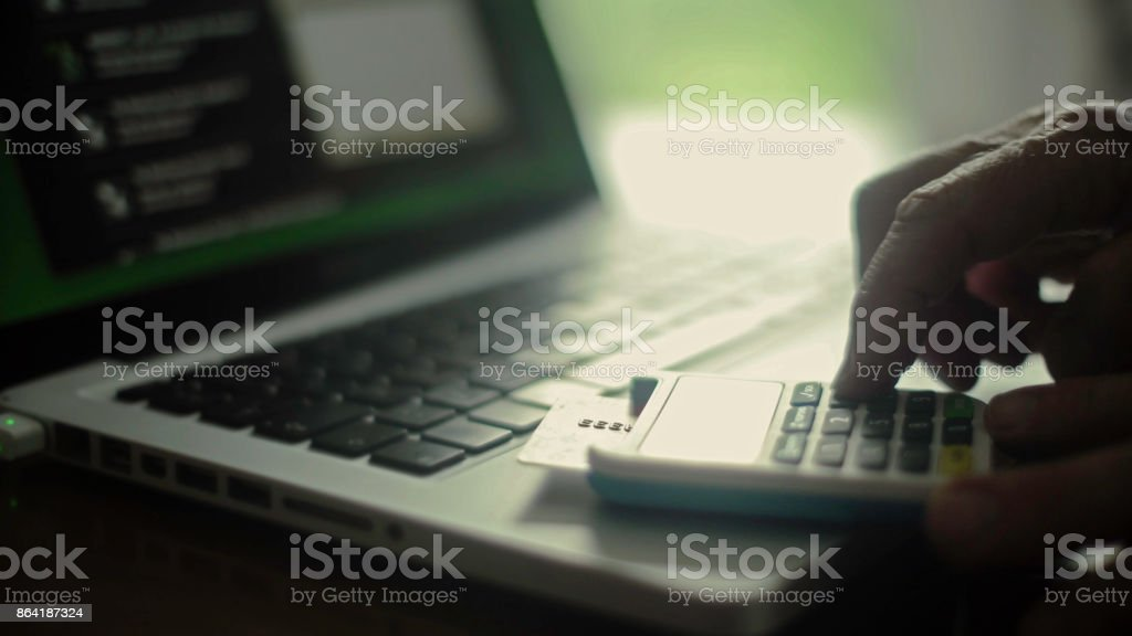 Bank card laptop royalty-free stock photo
