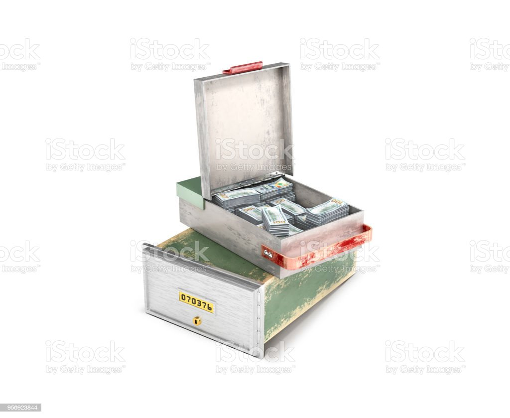 bank cell with money.3d illustration стоковое фото