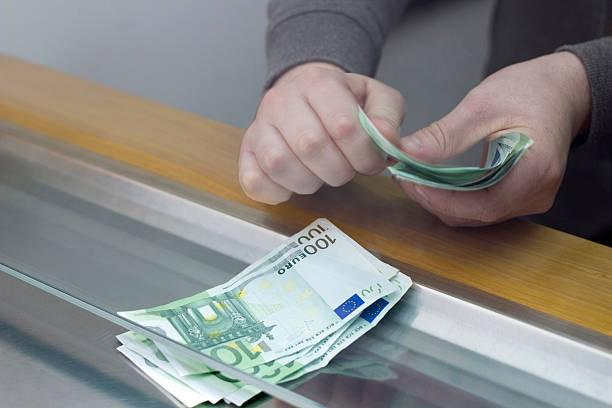 Bank Counter stock photo