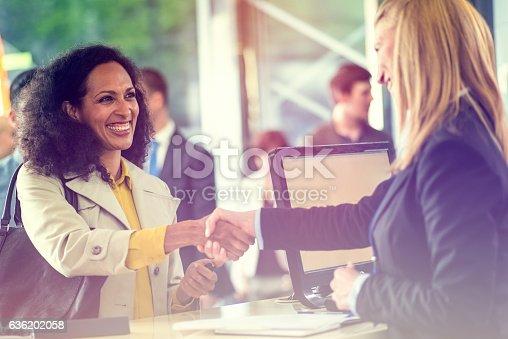 istock Bank Counter 636202058