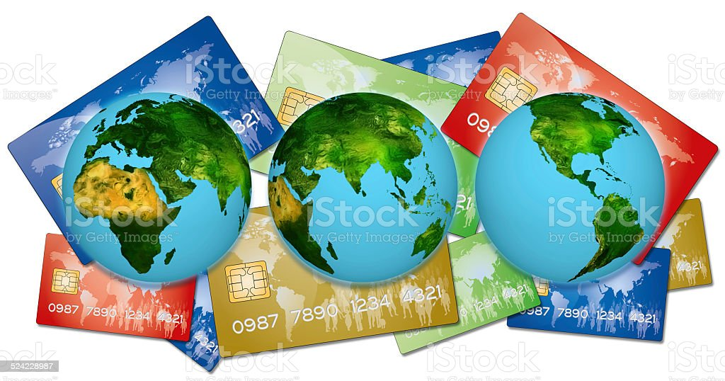 Bank credit cards stock photo