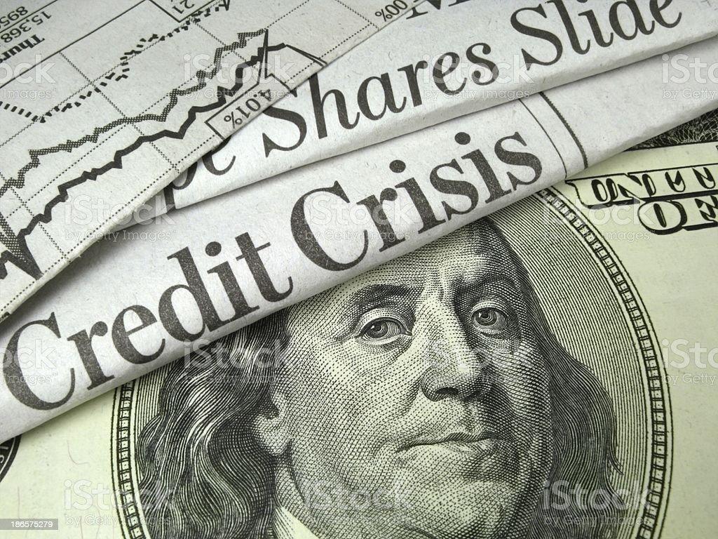 Bank Crisis royalty-free stock photo