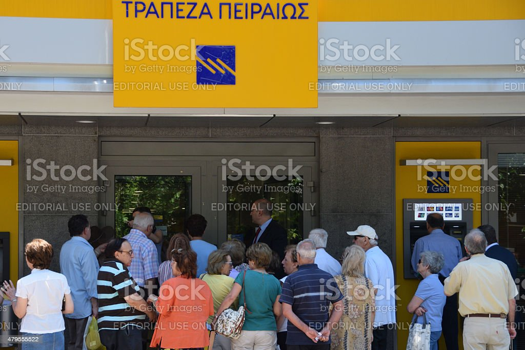 bank crowd of people stock photo