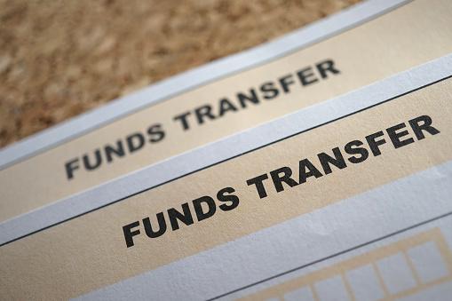 close up of bank deposit