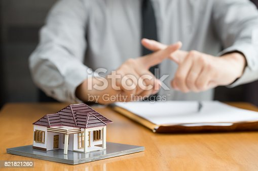 istock Bank does not approve home loan 821821260