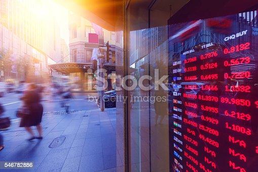 Sydney street bank exchange rate display