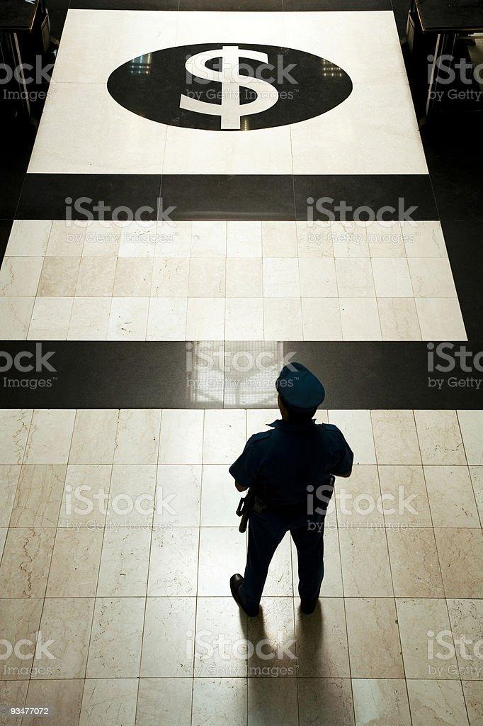 Bank guard 1 royalty-free stock photo