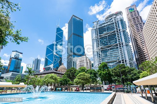 istock Bank Headquarters in Hong Kong 1128467514