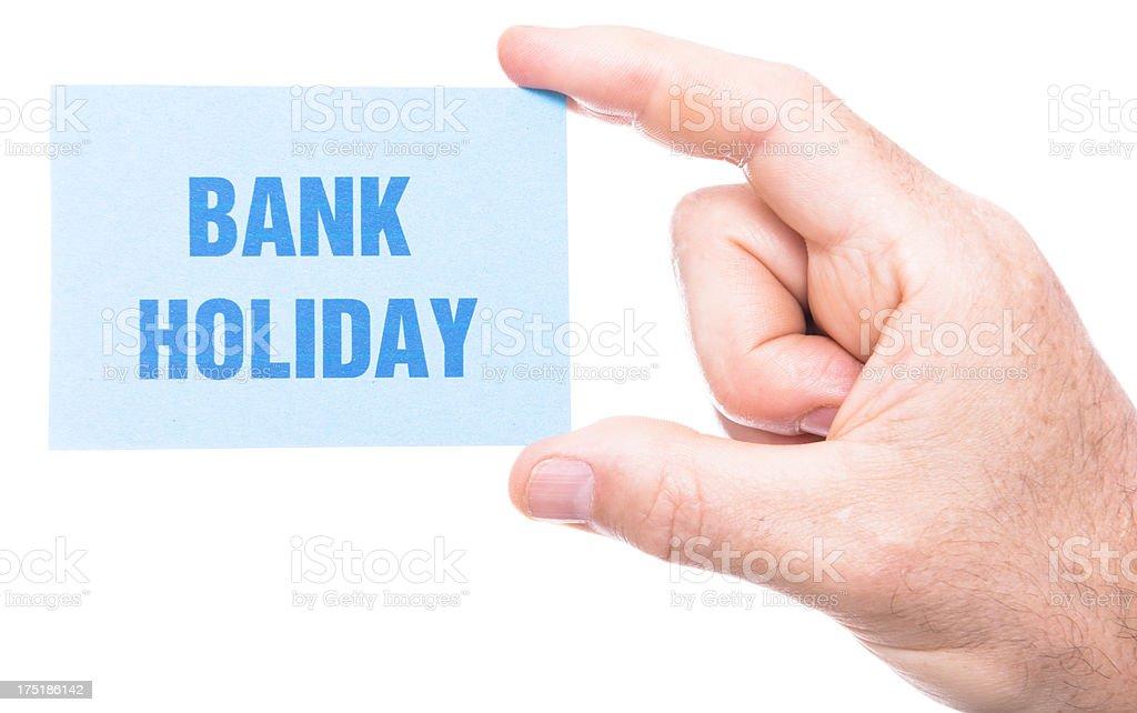 bank holiday greeting card royalty-free stock photo