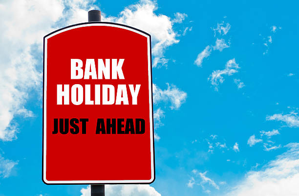 Bank Holiday Just Ahead stock photo