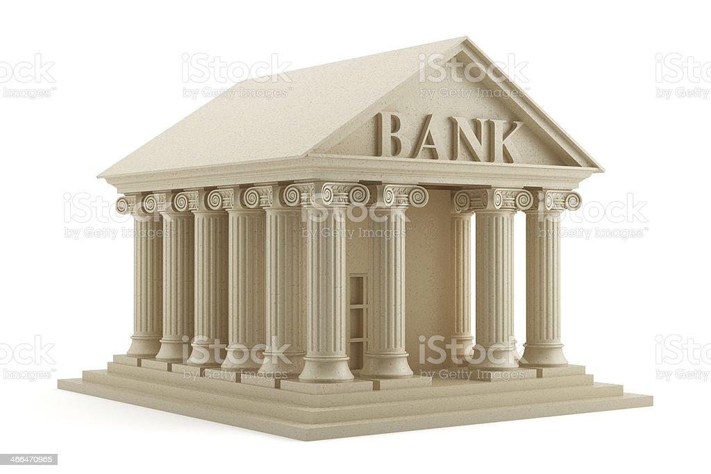 Bank icon isolated stock photo
