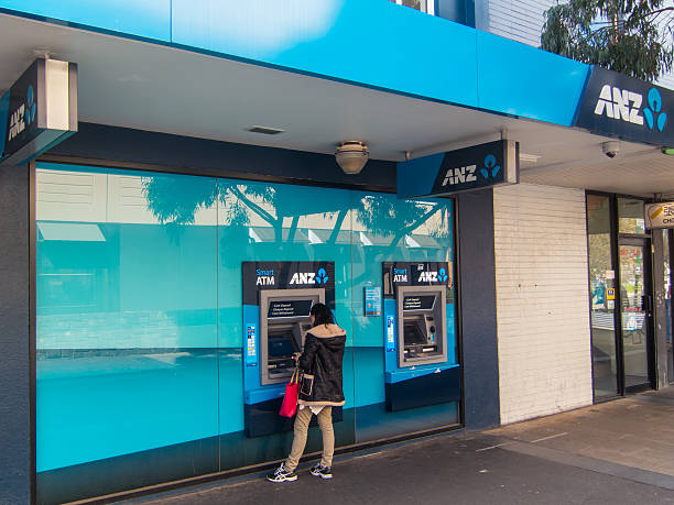 ANZ bank in Box Hill stock photo