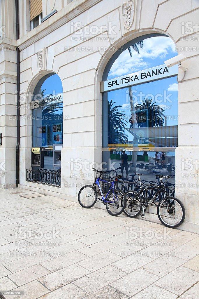 Bank in Croatia stock photo