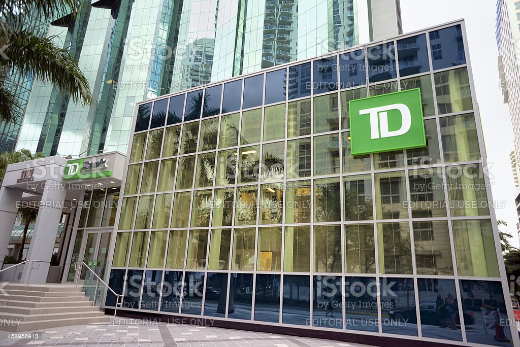 TD Bank in Miami Financial District stock photo