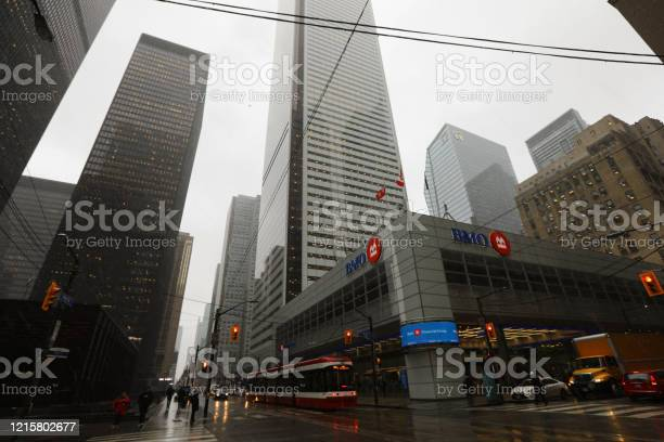 Bmo Bank In The Financial District Of Toronto Stock Photo - Download Image Now