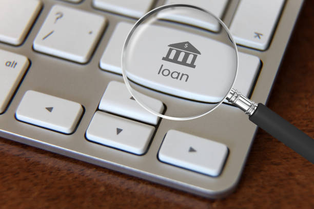 Bank loan online banking Bank loan online banking loan stock pictures, royalty-free photos & images