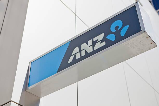 ANZ Bank logo stock photo