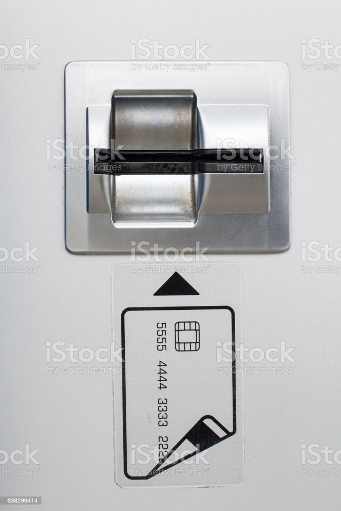 ATM Bank Machine Card Slot stock photo