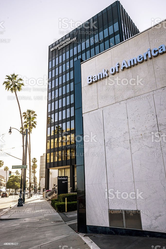 Bank of America and Morgan Stanley Office Buildings stock photo
